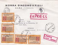 Brief Von Alba In Die Schweiz (br1870) - 6. 1946-.. Republic