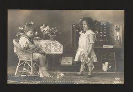 SAILOR MARINERO NIÑO NIÑA GIRL AND BOY ENFANTS GARÇON Real Photo Postcad  Romantic Romantique - Autres