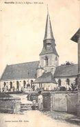 C P A  76] Seine Maritime > Sierville L'église Le Cimetière - Frankreich