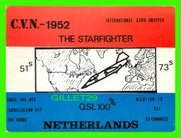 QSL - C.V.N. 1952, THE STARFIGHTER - AVION - NETHERLANDS - 1975 - - Radio Amateur