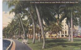 Florida West Palm Beach Royal Worth Hotel On Lake Worth 1944 Cur
