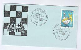 1986 Marostica KARPOV V KASPAROV  MATCH  EVENT COVER Chess Stamps Italy - Chess