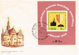 Polen FDC Block 30  - Wroclaw (Breslau) - Architektur, Sport, Filatelie - Townhall - FDC