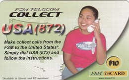 Micronesia, FSM-R-010, $10, FSM Telecom Collect, 2 Scans. - Micronesië
