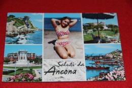 Ancona Vedute Con Pin Up 1974 + Tassata - Ancona