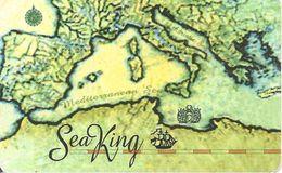CARTE-+PREPAYEE-INDE-MARINE-SEA KING-CArte Mediterranée-Plastic Fin-GRATTE-TBE - Bateaux