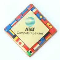 Pin's AT&T COMPUTER SYSTEMS - Logo - Drapeaux Du Monde - Union - G1051 - Informatique