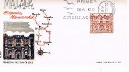 Spanien FDC 1873 - Kathedrale In Malaga - Architektur, Religion - FDC