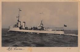 """07161 """"REGIA NAVE ESPLORATORE LEONE 1923 - 1941"""" CART. ORIG. NON SPED. - Guerra"""
