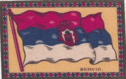 Flag Of Servia (Serbia) Cloth Or Felt(?) 13.6 X 8.8 Cm Size - Andere