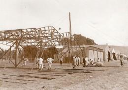 Vesoul Aviation Manoeuvres De L'Est Montage Des Hangars Ancienne Photo 1910 - Aviation