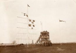 Aviation Grande Semaine De Lyon Poste Des Chronometreurs Mat Ancienne Photo 1910 - Aviation