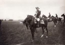 France General Brun A La Revue Du 14 Juillet Cheval Ancienne Photo 1910 - Aviation