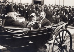 France General Brun Louis Barthou? Defile En Caleche Ancienne Photo 1910 - Aviation