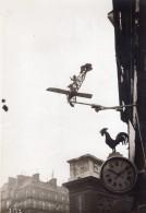 France Paris Coq Et Avion Bleriot Enseigne Horloger Chantecler Ancienne Photo 1910 - Aviation