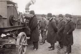 Saint-Ouen Parc Aerostatique Godard Treuil A Vapeur Officiers Bulgares Ancienne Photo 1911 - Aviation