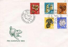 SWITZERLAND -  1965 Pro Juventute - Wild Animals  FDC1053 - Pro Juventute