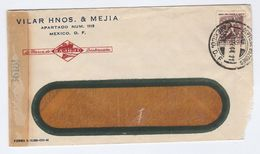 1944 MEXICO CENSOR COVER Illus ADVERT SHIP, Censored Stamps - Mexico
