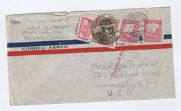 1945 Air Mail  COLOMBIA Stamps COVER With 'TAQUILLA No' Marking  To USA - Colombia