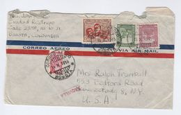1945 Air Mail  COLOMBIA Stamps COVER With 'TAQUILLA' Marking  To USA - Colombia