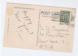 1935 PANAMA COVER Postcard To USA, Bird Stamp Birds - Panama