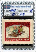 ICELAND-(DENMARK)#CHRISTMAS# SEALS #CINDERELLAS#MH*# (ICCT 270-1 (11) - Iceland