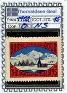 ICELAND-(DENMARK)#CHRISTMAS# SEALS #CINDERELLAS#MH*# (ICCT 270-1 (15) - Iceland