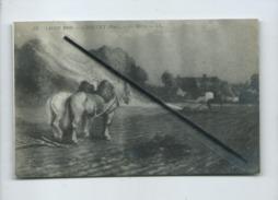 CPA - Salon 1909 - Choquet  (René) - La Herse , ( Cheval , Chevaux, Champs Agricole , Agriculture  ) - Cultures