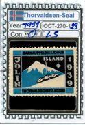 ICELAND-(DENMARK)#CHRISTMAS# SEALS #CINDERELLAS#MH*# (ICCT 270-1 (23) - Iceland
