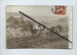 CPA - Salon 1914 - F.A. Bridgman ...Le Matin En Normandie  ( Cheval , Chevaux, Champs Agricole , Agriculture , Labour  ) - Cultures