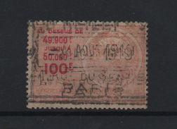 FISCAUX EFFET DE COMMERCE TYPE TASSET 1918 N°442 100F ORANGE - Revenue Stamps