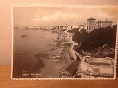 Cartolina Anzio Spiaggia Roma Viaggiata 1948 Francobollo Posta Aerea Sovraimpresso - Italia