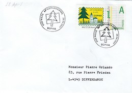 2007 Luxembourg MENG POST LABEL FSPL CONGRESS Stamps EVENT COVER Philatelic Exhibition Event - Covers & Documents