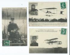 3 CPA - Paulhan à Bord De Son Biplan H.Farman ,Marconnet , Cheutin Sur Biplan M.Farman (avion , Aviateurs , Aviation ) - Aviateurs