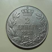 Yugoslavia 2 Dinara 1925 - Yougoslavie
