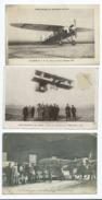 3 CPA- Aérodrome Du Bourget Dugny, Nieuport 240-Delagrange Sur Biplan ,Avord,Centre Militaire(avion,aviateurs,aviation ) - Aviateurs