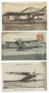 3 CPA- Aérodrome Du Bourget Dugny, Nieuport 240 - Ligne Imperial Airwai - Breguet 19 A 2(avion,aviateurs,aviation ) - Avions