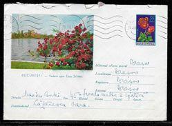 Romania - 55b Illustrated Postal Stationery Envelope - Used Bucharest To Blasov 1962 - Ganzsachen