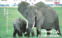 ELEPHANT * ANIMAL * TEC * Toshiba 140980 * Japan - Télécartes