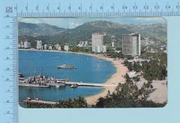 MEXIQUE - México - Vista Panoramica De La Bahia De Acapulco, Used In 1988 - Postcard Carte Postale - Mexique