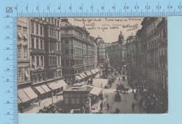 Wien Graben - Animated Lot Of People, Horse Buggys, Cover Used In 1906 - Postcard Carte Postale - Wien Mitte