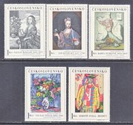 CZECHOSLOVAKIA  1435-9  Fault   *  ART  PAINTINGS - Czechoslovakia