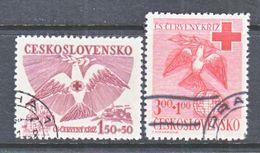 CZECHOSLOVAKIA  B 168-9   (o)   RED  CROSS  PEACE  DOVE - Czechoslovakia