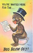 U.S. BLACK   AMERICANA  ARTIST  SIGNED  WALT  MUNSON   Used  1938 - Black Americana