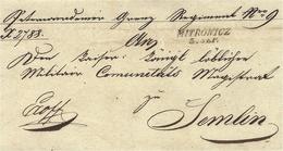 1850- Lettre De MITROWICZ ( Nord Du Kosowo ) Pour Semlin ( Belgrad ) - Kosovo