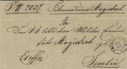 1857- Lettre De PETERWARDEIN ( Quartier De Novi-Sad )  Pour Semlin ( Belgrad ) - Serbia