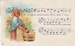 BLACK AMERICANA  TUCK  NEGRO  MELODIES  MUSIC  Used   PURSER, CAL.  D.P.O. 1910 - Black Americana