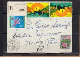 ALGERIE  Lettre RECOMMANDEE  De TITTEST Le 4 11 1975  Affranchie Avec 4 Timbres Pour PARIS - Algeria (1962-...)