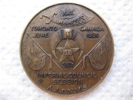 Shriners Medal - Médaille AAONMS 56th IMPERIAL COUNCIL SESSION, Toronto Canada 1930 - Professionals / Firms