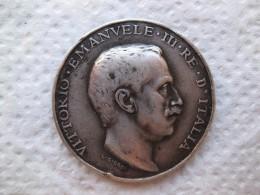 Medaglia Guerra Italo-Turca 1911-1912. Vittorio Emanuel III. Argent - Italie